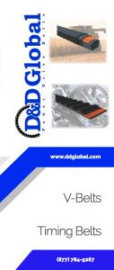 Informational Brochure | Timing Belt Linecard | D&D Global | Power Drive Belts | V-Belts Time Belts | High Performance Belts